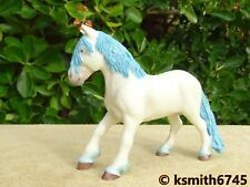 2009 Papo BLUE FAIRY PONY Solid plastic toy Pet Farm ANIMAL male horse 💥