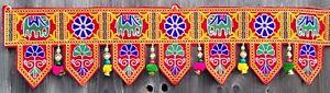 Indian Handicrafts Vintage Ethnic Traditional Toran Door Window Valance Toppers