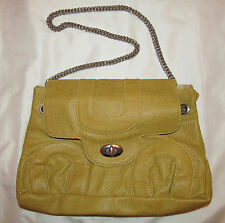 BIG BUDDHA perforated butterscotch vegan slide chainmail strap shoulder hand bag