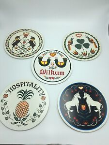 "Lot of 5 Authentic PA Dutch 8"" Hex Signs Made In USA Zook Will-Char"