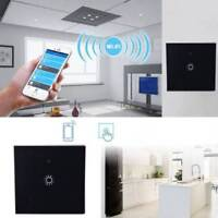 1/2/3 Gang WiFi Smart Touch Panel LED Light Switch Tempered Glass Panel