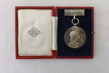 JOHN PINCHES LONDON CASED SILVER MEDAL ROYAL ACADEMY OF MUSIC HARMONY 1939 (1017