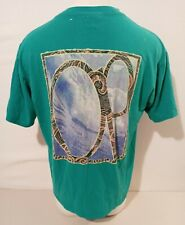 VTG Rare Ocean Pacific OP 1991 Big Logo Teal Shirt Size XL Single Stitch