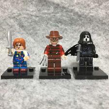 3PCS Horror Movie Chucky Freddy Scream Ghostface Mini Figure Toy
