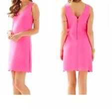 LILLY PULITZER SCALLOP HEM SHIFT DRESS MIKAYLA V-NECK Size L New