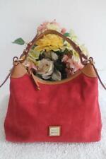 $198 NWOT  Dooney & Bourke red  Suede Hobo Purse SS924 BAG PURSE  (pu600