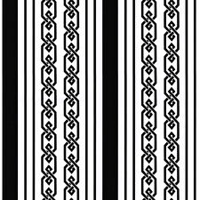 Contemporary Geometric Black & White Stripes Wallpaper TU27105