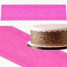 Silicone Edible Sugar Lace Mat Mold Scalloped Swag Border Doily Cake Lace Mold