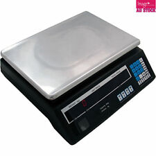 Kitchen Scale Digital Electronic Weight with Large LED Display Black 30kg YW