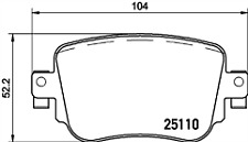 Mintex MDB3382 Rear Brake Pad Set Audi A1 Seat Leon Skoda Octavia VW Caddy NEW