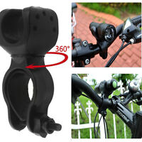 360Degree Cycling Bicycle Bike LED Head Light Cree Torch Lamp Mount Holder Clip