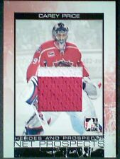 CAREY PRICE  AUTHENTIC 2-COLOR SEAMED PIECE FROM A GAME-USED JERSEY /90