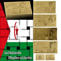 WR Jordanien 5 Stück Gold Banknoten Set 1 5 10 20 50 Dinar Gold Geldschein