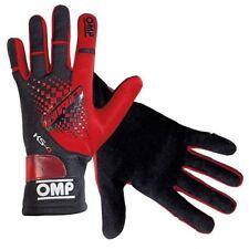 New 2018! OMP KS-4 Professional Karting kart Gloves Black/Red XXS-XL