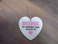 Home is where the Heart is  Wooden Heart Plaque