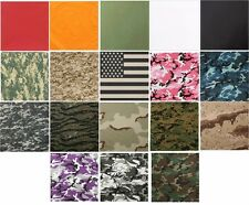 """Biker Bandana 27"""" x 27"""" Camouflage Or Solid Extra Large Military Cotton Rothco"""