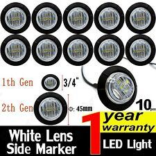 10X Round White 6 LED Bullet Clearance Side Marker Light Boat Car Truck Trailer