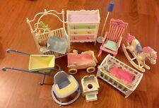 Vintage Lot Barbie Kelly Nursery Furniture Cribs - Dresser - Rocking Chair Horse