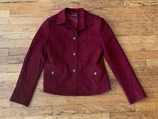 BROOKS BROTHERS MAROON WOOL LINED BLAZER - SIZE 6