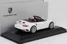 Porsche 911 991 Turbo S Gen.II Cabrio Cabriolet 2016 weiss 1:43 Herpa WAP
