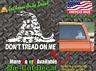 Don't Tread On Me Gun Rights CCW Gadsen Bumper Sticker Car Vinyl Window Decal