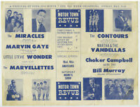 JAMES BROWN @ The Apollo Original 1963 MOTOR TOWN Motown REVUE Concert Handbill