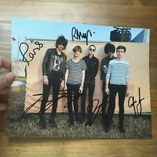 The Horrors Faris Badwan + band hand signed autograph on 8x10 inch photo IP