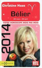 BELIER 2014 - Christine HAAS - 128 p. (prévisions astrologique horoscope). NEUF
