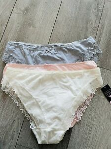 New 3 Pack Of Matalan Briefs Size 16 From Matalan Grey Pink White