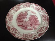 "ROYAL TUDOR WARE ""Olde England"" BARKER BROS. Red Dinner Plate Pre-Owned"