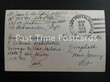 1943 Postmark Stamp U S Army Postal Service APO 644 PASSED by EXAMINER base 1113