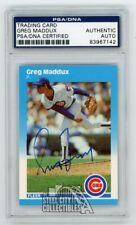 Greg Maddux 1987 Fleer Autographed Card - PSA/DNA