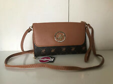 NEW! BEVERLY HILLS POLO CLUB BROWN CONVERTIBLE WRISTLET WALLET CROSSBODY BAG