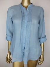 SPORTSCRAFT BLOUSE SHIRT SOFT BLUE SHIRT BUTTON DOWN BLOUSE TOP TUNIC 8