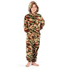 Girls/Boys Childrens Fleece All In One Hood/Kids Pyjamas Costume Age 2-13 Years