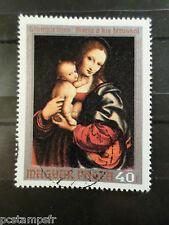 HONGRIE 1970, timbre 2136, TABLEAU VIERGE ENFANT PEDRINI PAINTING oblitéré STAMP