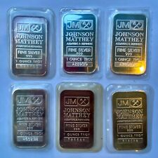 Vintage Johnson Matthey 1 oz .999 Fine Silver Bullion Bars - Choose How Many