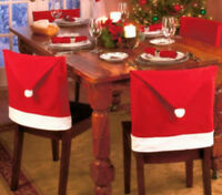 Party Christmas Decoration Table Red Hat Decor Dinner Chair Cover Clause Hot