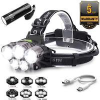 90000LM LED Headlamp Rechargeable Headlight Light Flashlight Fishing Head Torch