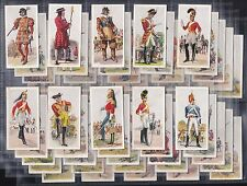 CARRERAS, HISTORY OF ARMY UNIFORMS, ORIGINAL COMPLETE SET OF 50 ISSUED IN 1937.