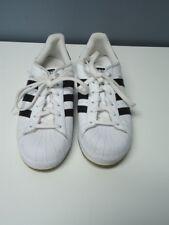 ADIDAS White Black Stripe Lace Up Rubber Sole Superstar Athletic Shoes Sz 7 4515