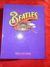 THE BEATLES HARD BACK ILLUSTRATED LYRICS edited by Alan Aldridge