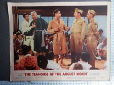 2 LOBBY CARD THE TEAHOUSE OF THE AUGUST MOON AÑO 1956 GLEN FORD MACHICO KYO