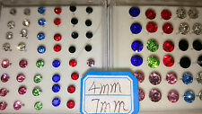 Joblot 39 pairs 4mm&7mm Hypoallergenic Diamante stud Earrings - NEW Wholesale A