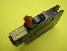 FEDERAL PACIFIC Circuit Breaker FPE THIN 1/2 Space STAB LOK 1 Pole 20 amp
