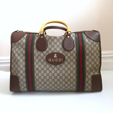 GUCCI GG Supreme Duffle Bag Weekend W Dust Bag