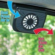 Solar Power Car Window Fan Auto Ventilator Cooling Vehicle Air Vent Portable GA