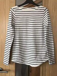 Fat Face The Classic Breton Tee Fits Uk 10 Tunic Style Top Pit To Pit 17 Inches