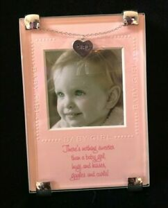 Mudpie Baby Girl Clip Frame with Charm NEW