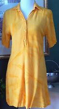 Wet Dream London Yellow Crinkle Rayon S/S Shirt Dress/Cover Up S/M